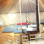 Vnitřek jurty